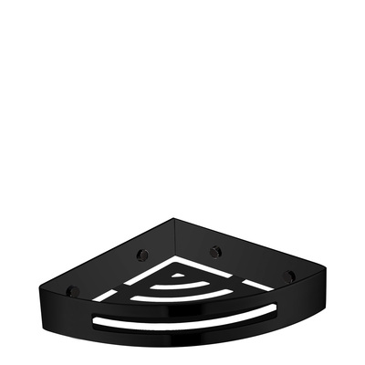 Полка-корзина Omnires для душа угловая, черный