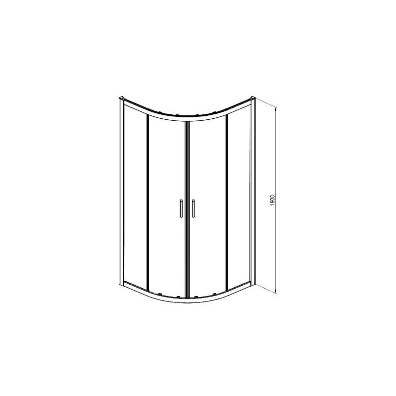 Кабина полукруглая Deante CITO, стекло прозрачное
