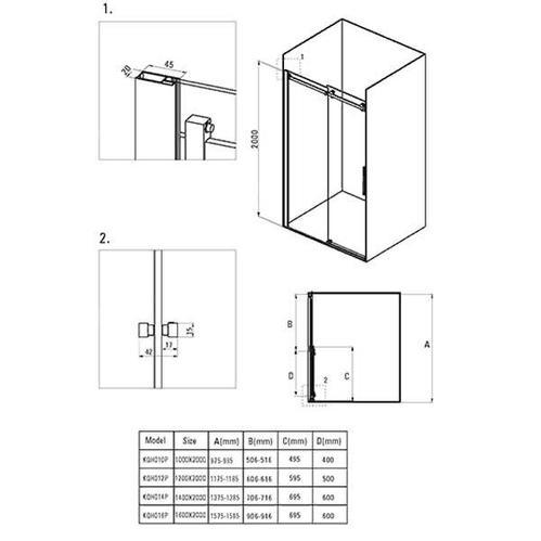 Двери для ниши раздвижные Deante Hiacynt, стекло прозрачное