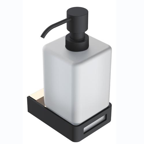 Дозатор для жидкого мыла Boheme Q подвесной, золото/черный