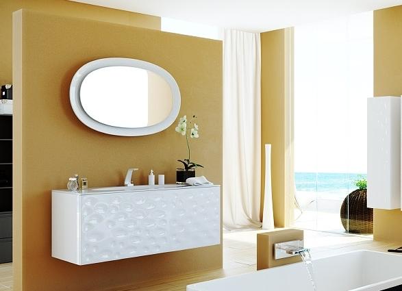 """""""Dune"""" панель с зеркалом и подсветкой, цвет белый"""