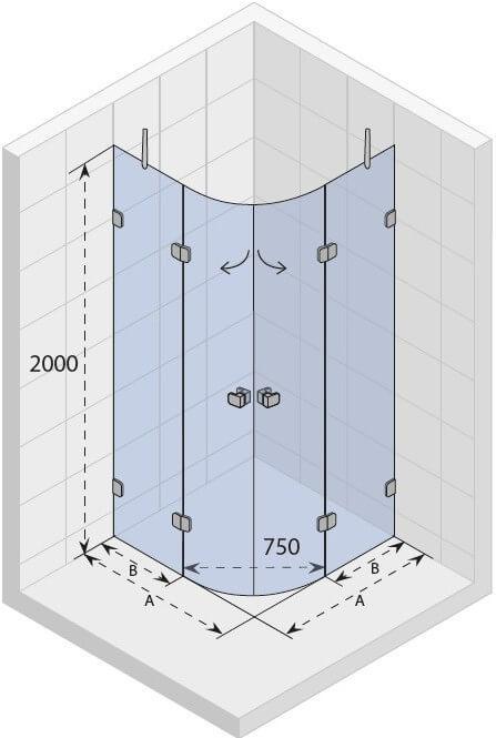 Душевой уголок радиусный Riho SCANDIC