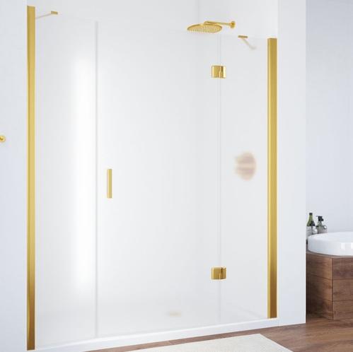 Душевая дверь Vegas Glass AFP-F золото, стекло прозрачное