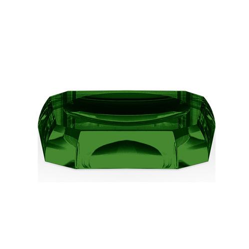 Decor Walther Kristall STS Мыльница настольная, хрустальное стекло, цвет: английский зеленый