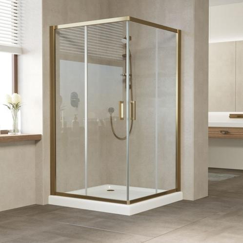 Душевой уголок Vegas Glass  профиль бронза, стекло прозрачное c покрытием