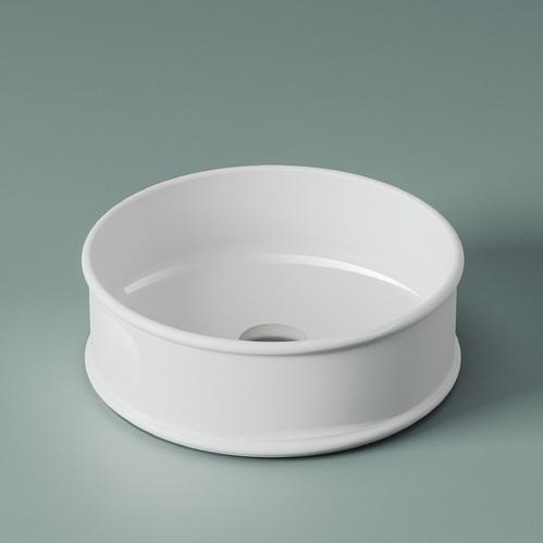 Раковина настольная ArtCeram Atelier Ø 44 см, цвет белый