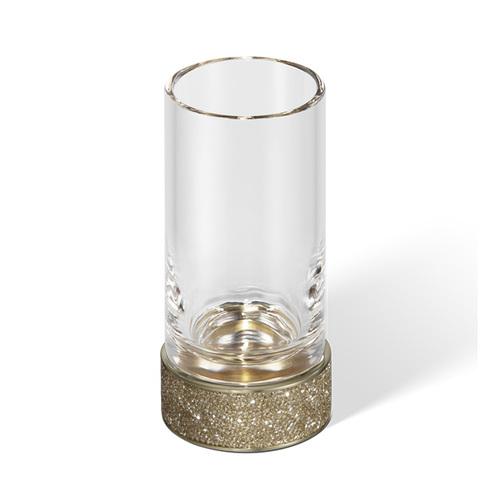 Decor Walther Rocks SMG Стакан настольный, прозрачное стекло, с кристаллами Swarovski, цвет: золото матовое