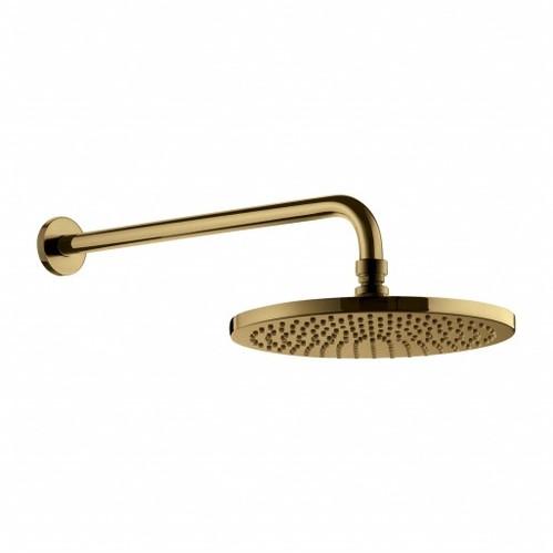 Omnires Y Верхний душ с кронштейном, ø25 cm золото брашированное