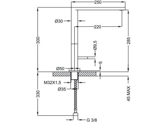 Смеситель для кухни Cezares ECO LLM-01