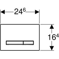Клавиша Geberit Sigma Type 50 , двойной смыв, цинковое литье, полированный хром
