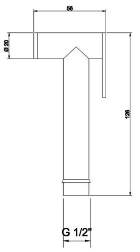 Лейка гигиеническая Fiore  для псевдобиде, латунная, хром