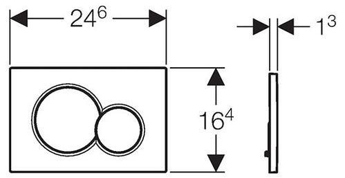 Смывная клавиша Geberit Sigma 01 матовый хром