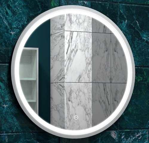 Зеркало Континент Style White Led 60x60, с подсветкой, сенсор, белый