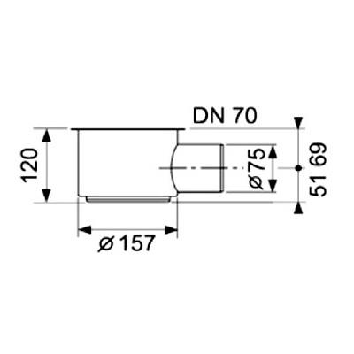 Сифон DN70, 1,2 л/с