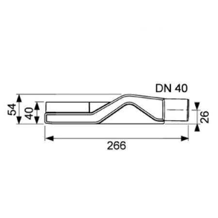 Сифон DN40, 0,5 л/с