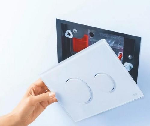 Кнопка смыва Tece Loop белое стекло