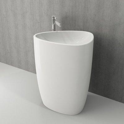 Умывальник напольный Bocchi Etna 58x43.5 см, без отверстия под смеситель