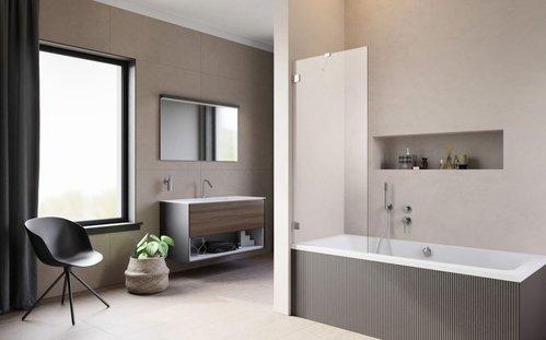 Душевая шторка на ванну Radaway Essenza Pro PNJ II, H-150 см, хром