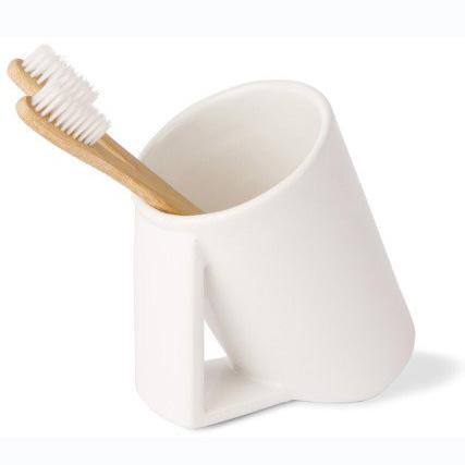 Стакан Lineabeta Saon керамический белый