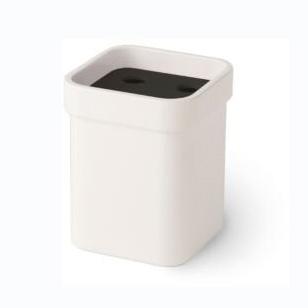 Стакан Lineabeta Saeta керамический белый с черной вставкой