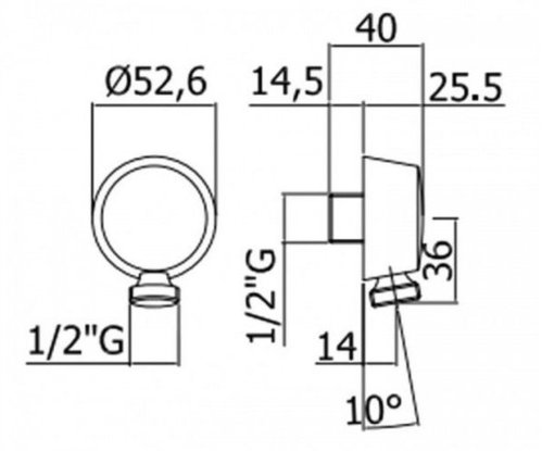 Шланговое подключение Paffoni Light (нержавеющая сталь)