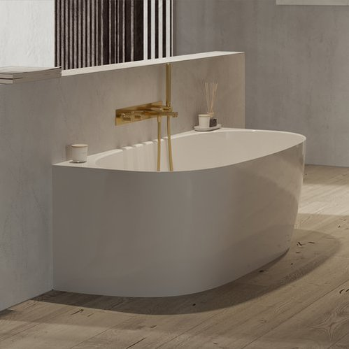 Смеситель для ванны скрытого монтажа Omnires Contour брашированное золото
