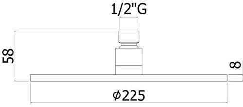 Верхний душ Paffoni Light (белый матовый) 22.5см