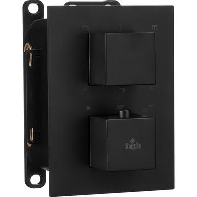 Накладка к боксу термостатическому квадратный DEANTE BOX NERO, черный