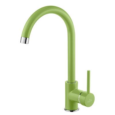 Смеситель для кухни с изливом U Deante Milin, зеленый