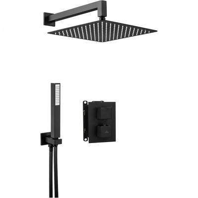 Душевая система скрытого монтажа с квадр.термост. смесителем DEANTE BOX NERO, черный