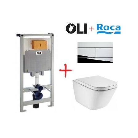 Комплект: инсталляция OLI80 + унитаз Roca The Gap (хром кнопка)