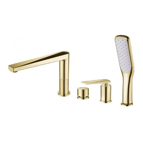 Смеситель на борт ванны Boheme Venturo, золото