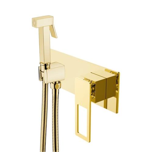 Гигиенический душ Boheme Q со смесителем, С ВНУТРЕННЕЙ ЧАСТЬЮ, золото