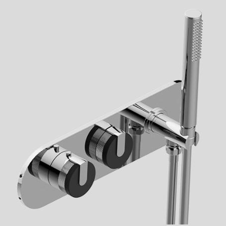 Graff Настенный термостатический смеситель с душевым комплектом c внутренней частью