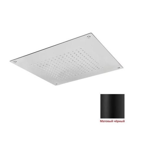Потолочный верхний душ Aquadesign 40х40 чёрный матовый