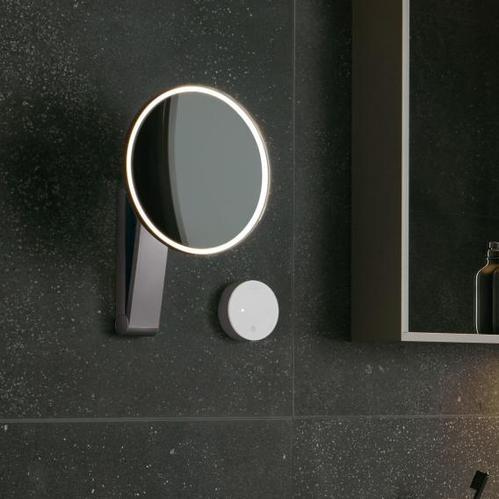 Косметическое зеркало Keuco iLook_move со скрытой прокладкой кабеля, регулируемый цвет света