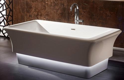 Акриловая ванна ABBER 168*85 с подсветкой