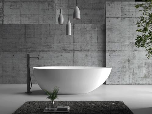 Акриловая ванна ABBER 170*80 белый слив