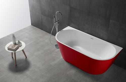 Акриловая ванна ABBER 170*80 красная