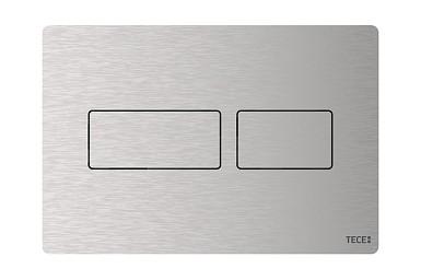 Клавиша смыва TECE Solid с двойной системой смыва, нержавеющая сталь, сатин