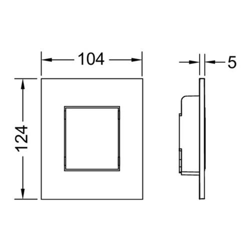 TECEnow панель писсуара с картриджем хром глянцевый