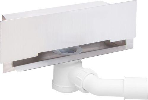 Настенный (боковой) слив DEANTE с решеткой без декора, сифон 65 см