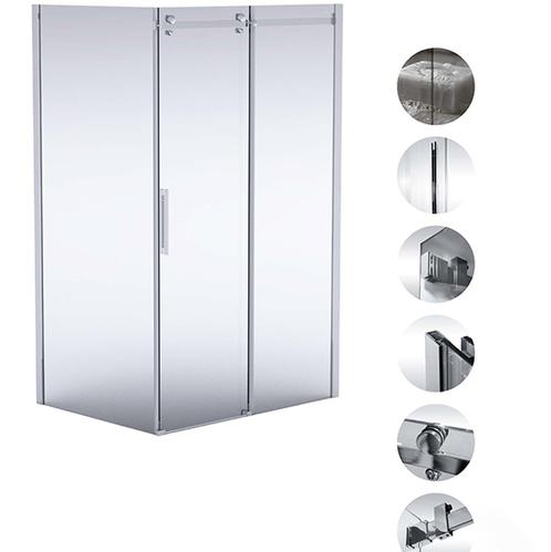Deante Hiacynt Кабина прямоугольная, стекло прозрачное, 120×80 см