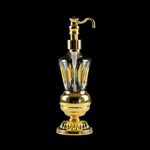 Дозатор жидкого мыла настольный, хрусталь Migliore Luxor, золото