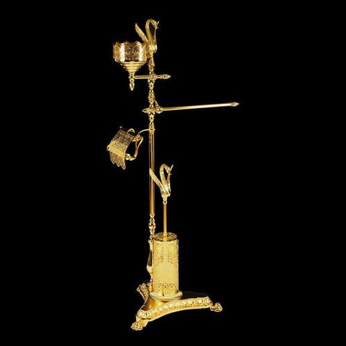 Migliore LUXOR Стойка для WC и биде, 4-х функциональная H110 см., золото