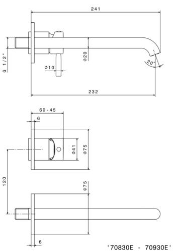 Newform смеситель для раковины скрытого монтажа