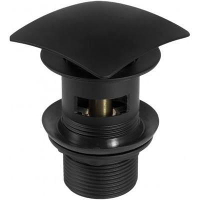 Пробка квадратная Deante CLICK-CLACK с переливом для раковины, черный