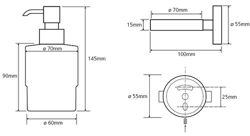 Дозатор для жидкого мыла с держателем Bemeta Omega
