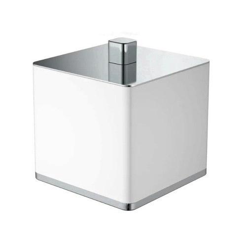 Boheme Q стакан для ватных дисков настольный, белый/хром