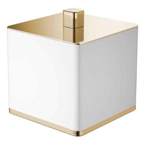 Boheme Q стакан для ватных дисков настольный, белый/золото